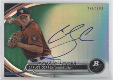 2013 Bowman Platinum - Autographed Prospects - Green Refractor #BPAP-CC - Carlos Correa /399