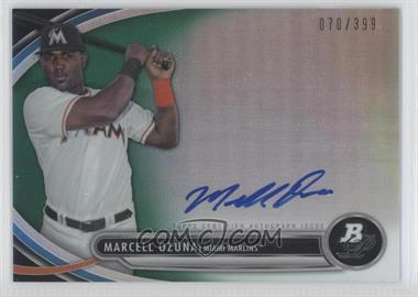 2013 Bowman Platinum - Autographed Prospects - Green Refractor #BPAP-MO - Marcell Ozuna /399