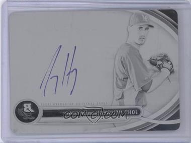 2013 Bowman Platinum - Autographed Prospects - Printing Plate Black #BPAP-JH - Johnny Hellweg /1