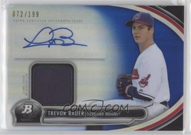 2013 Bowman Platinum - Autographed Relic - Blue Refractor #AR-TB - Trevor Bauer /199