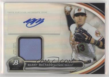 2013 Bowman Platinum - Autographed Relic #AR-MM - Manny Machado