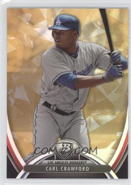 2013 Bowman Platinum - [Base] - Gold #15 - Carl Crawford