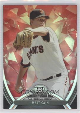 2013 Bowman Platinum - [Base] - Ruby #27 - Matt Cain