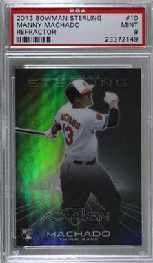 2013 Bowman Sterling - [Base] - Refractor #10 - Manny Machado /199 [PSA9MINT]