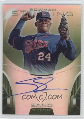 2013 Bowman Sterling - Prospect Certified Autographs - Green Refractors #BSAP-MS - Miguel Sano /125