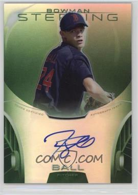 2013 Bowman Sterling - Prospect Certified Autographs - Green Refractors #BSAP-TB - Trey Ball /125
