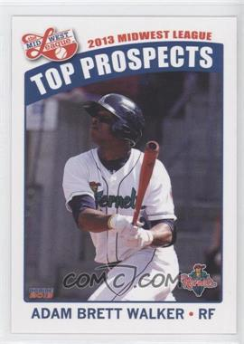 2013 Choice Midwest League Top Prospects - [Base] #08 - Adam Brett Walker