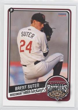 2013 Choice Wisconsin Timber Rattlers - [Base] #23 - Brent Suter