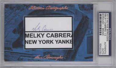 2013 Historic Autographs Five Boroughs Cut Autographs - [Base] #NoN - Melky Cabrera /2 [PSA/DNACertifiedAuto]