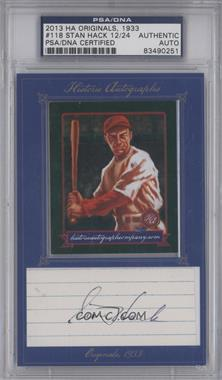 2013 Historic Autographs Originals, 1933 - [Base] - Framed Cut Autographs [Autographed] #118 - Stan Hack /24 [PSA/DNA Certified Auto]
