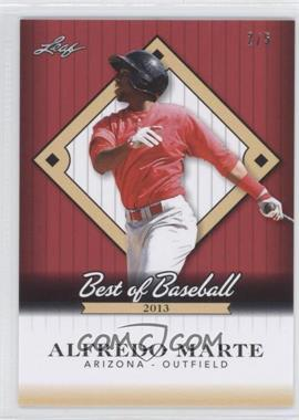 2013 Leaf Best of Baseball - [Base] - Red #B-AM1 - Alfredo Marte /5