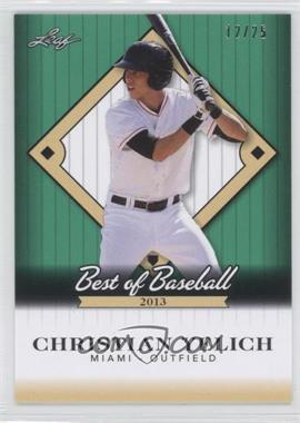 2013 Leaf Best of Baseball - [Base] #B-CY1 - Christian Yelich /25