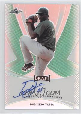 2013 Leaf Metal Draft - [Base] - Green Prismatic #BA-DT1 - Domingo Tapia /10