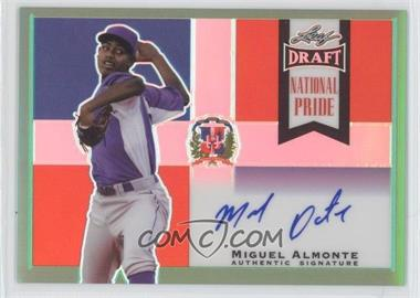 2013 Leaf Metal Draft - National Pride - Green #NP-MA2 - Miguel Almonte /10