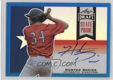 2013 Leaf Metal Draft - State Pride - Blue #SP-HD1 - Hunter Dozier /15