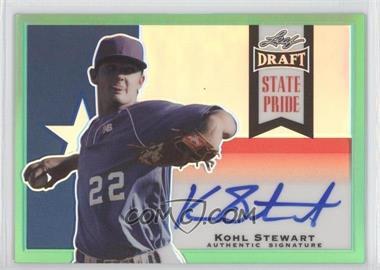 2013 Leaf Metal Draft - State Pride - Green #SP-KS1 - Kohl Stewart /10