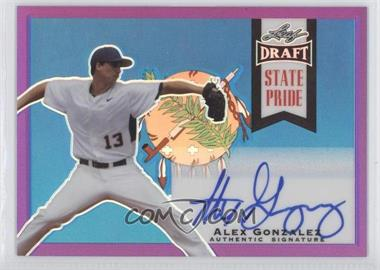 2013 Leaf Metal Draft - State Pride - Purple #SP-AG1 - Alex Gonzalez /25