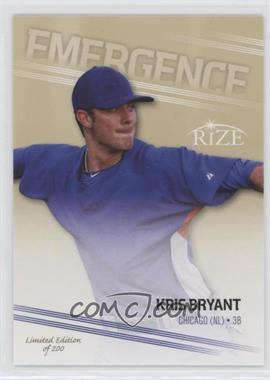 2013 Leaf Rize - Emergence - Gold #EM-2 - Kris Bryant /200
