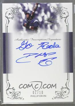 2013 Leaf Trinity - Inscription Autographs - Silver #DTI-PE1 - Phillip Ervin /10