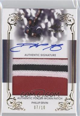 2013 Leaf Trinity - Patch Autographs - Gold #DTP-PE1 - Phil Ervin /10