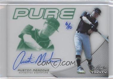 2013 Leaf Trinity - Pure Autographs - Green #P-AM1 - Austin Meadows /10