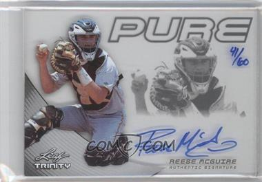 2013 Leaf Trinity - Pure Autographs - Silver #P-RMG - Reese McGuire /60