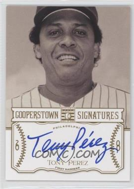 2013 Panini Cooperstown Collection - Cooperstown Signatures #HOF-TPZ - Tony Perez /201