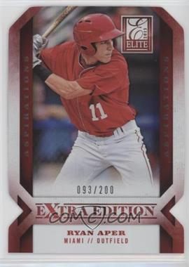2013 Panini Elite Extra Edition - [Base] - Aspirations Die-Cut #42 - Ryan Aper /200