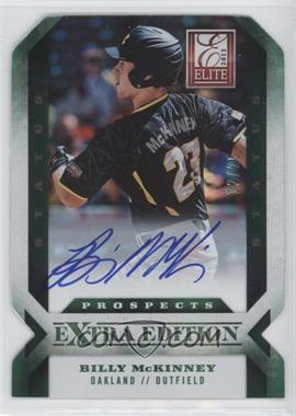 2013 Panini Elite Extra Edition - [Base] - Emerald Status Signature [Autographed] #117 - Billy Mckinney /25