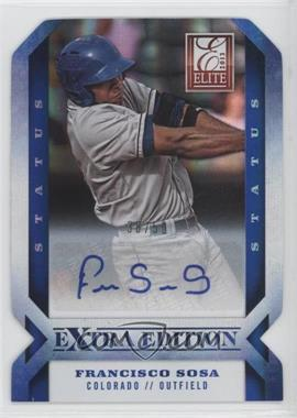 2013 Panini Elite Extra Edition - [Base] - Status Blue Die-Cut Signature [Autographed] #78 - Francisco Sosa /50