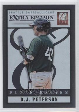 2013 Panini Elite Extra Edition - Elite Series #10 - D.J. Peterson