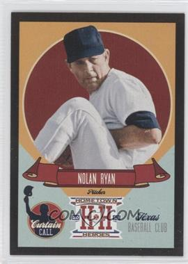 2013 Panini Hometown Heroes - Curtain Call - Black #CC7 - Nolan Ryan