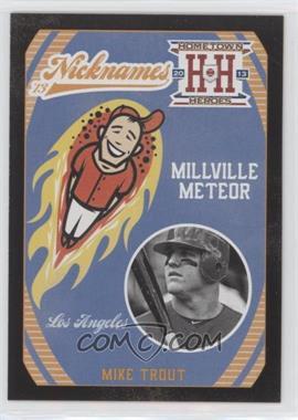 2013 Panini Hometown Heroes - Nicknames - Black #N5 - Mike Trout