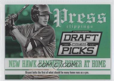 2013 Panini Prizm Perennial Draft Picks - Press Clippings - Green Prizms #6 - Kris Bryant