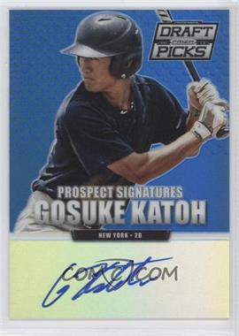 2013 Panini Prizm Perennial Draft Picks - Prospect Signatures - Blue Prizms #53 - Gosuke Katoh /75