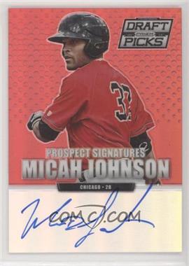 2013 Panini Prizm Perennial Draft Picks - Prospect Signatures - Red Prizms #85 - Micah Johnson /100