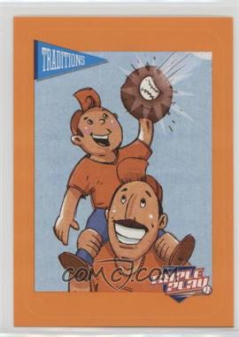 2013 Panini Triple Play - Cartoon Stickers #8 - Father & Son
