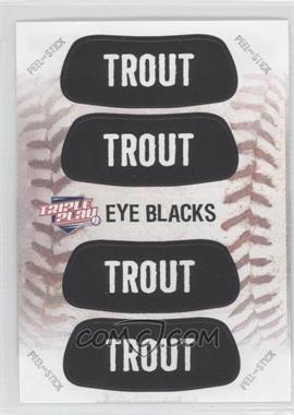 2013 Panini Triple Play - Eye Blacks #2 - Mike Trout