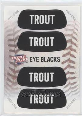 2013 Panini Triple Play - Eye Blacks #2 - Mike Trout
