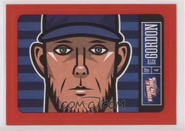 2013 Panini Triple Play - Player Stickers - Red Border #10 - Alex Gordon