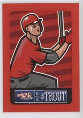 2013 Panini Triple Play - Player Stickers - Red Border #11 - Mike Trout