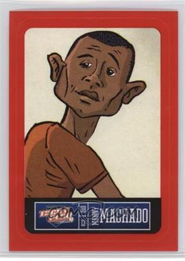 2013 Panini Triple Play - Player Stickers - Red Border #2 - Manny Machado