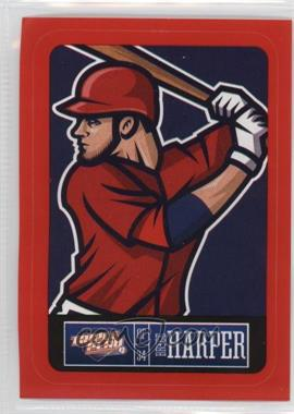 2013 Panini Triple Play - Player Stickers - Red Border #28 - Bryce Harper