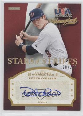 2013 Panini USA Baseball Champions - Stars & Stripes Signatures #OBR - Peter O'Brien /398