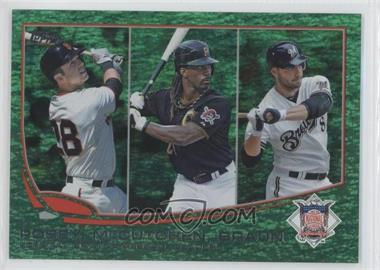 2013 Topps - [Base] - Emerald Foil #189 - 2012 NL Batting Average Leaders (Buster Posey, Andrew McCutchen, Ryan Braun)