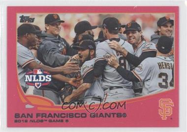 2013 Topps - [Base] - Pink #260 - San Francisco Giants Team /50