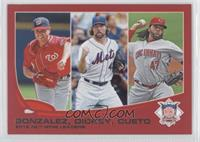 2012 NL Wins Leaders (Gio Gonzalez, R.A. Dickey, Johnny Cueto)