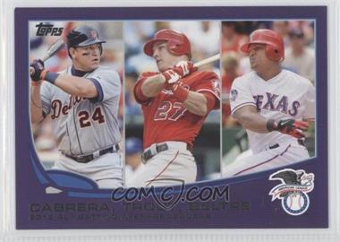 2013 Topps - [Base] - Toys R Us Purple #294 - 2012 AL Batting Average Leaders (Miguel Cabrera, Mike Trout, Adrian Beltre)