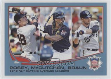 2013 Topps - [Base] - Wal-Mart Blue #189 - 2012 NL Batting Average Leaders (Buster Posey, Andrew McCutchen, Ryan Braun)