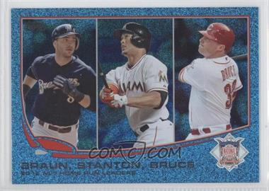 2013 Topps - [Base] - Wrapper Redemption Blue Slate #246 - 2012 NL Home Run Leaders (Ryan Braun, Giancarlo Stanton, Jay Bruce)
